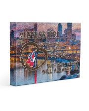 Mississippi A Place Your Feet May Leave Gallery Wrapped Canvas Prints tile