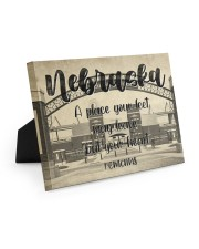 KT0001 Nebraska A Place Your Feet May Leave Easel-Back Gallery Wrapped Canvas tile