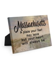 Massachusetts A Place Your Feet May Leave Easel-Back Gallery Wrapped Canvas tile