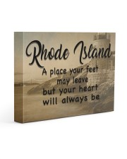Rhode Island A Place Your Feet May Leave Gallery Wrapped Canvas Prints tile