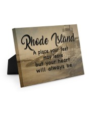 Rhode Island A Place Your Feet May Leave Easel-Back Gallery Wrapped Canvas tile