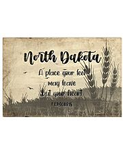 KT0001 North Dakota A Place Your Feet May Leave 17x11 Poster front