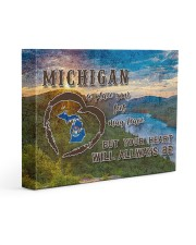 Michigan A Place Your Feet May Leave Gallery Wrapped Canvas Prints tile