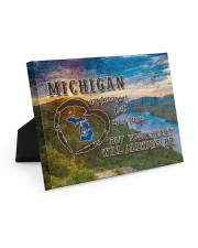 Michigan A Place Your Feet May Leave Easel-Back Gallery Wrapped Canvas tile
