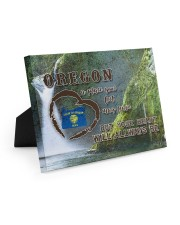 Oregon A Place Your Feet May Leave Easel-Back Gallery Wrapped Canvas tile