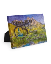 Idaho A Place Your Feet May Leave Easel-Back Gallery Wrapped Canvas tile