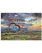 Oklahoma A Place Your Feet May Leave 17x11 Poster front
