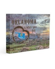 Oklahoma A Place Your Feet May Leave Gallery Wrapped Canvas Prints tile