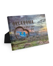 Oklahoma A Place Your Feet May Leave Easel-Back Gallery Wrapped Canvas tile