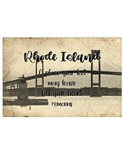 KT0001 Rhode Island A Place Your Feet May Leave 17x11 Poster front