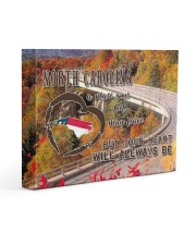North Carolina A Place Your Feet May Leave Gallery Wrapped Canvas Prints tile