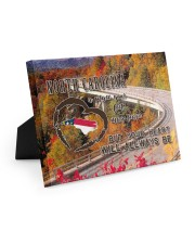 North Carolina A Place Your Feet May Leave Easel-Back Gallery Wrapped Canvas tile