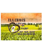 Illinois A Place Your Feet May Leave 17x11 Poster front
