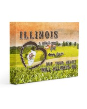 Illinois A Place Your Feet May Leave Gallery Wrapped Canvas Prints tile