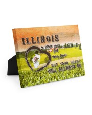 Illinois A Place Your Feet May Leave Easel-Back Gallery Wrapped Canvas tile