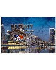 Detroit A Place Your Feet May Leave 17x11 Poster front
