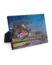 Detroit A Place Your Feet May Leave Easel-Back Gallery Wrapped Canvas tile