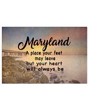 Maryland A Place Your Feet May Leave 17x11 Poster front