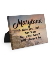 Maryland A Place Your Feet May Leave Easel-Back Gallery Wrapped Canvas tile
