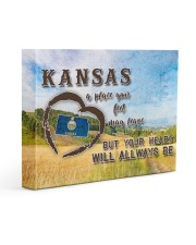 Kansas A Place Your Feet May Leave Gallery Wrapped Canvas Prints tile