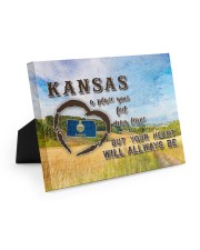 Kansas A Place Your Feet May Leave Easel-Back Gallery Wrapped Canvas tile