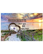 Massachusetts A Place Your Feet May Leave 17x11 Poster front