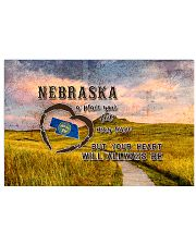 Nebraska A Place Your Feet May Leave 17x11 Poster front