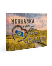 Nebraska A Place Your Feet May Leave Gallery Wrapped Canvas Prints tile
