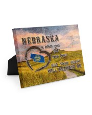 Nebraska A Place Your Feet May Leave Easel-Back Gallery Wrapped Canvas tile