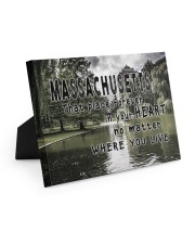 Massachusetts That Place Forever In Your Heart Easel-Back Gallery Wrapped Canvas tile