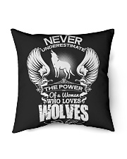 "Wolf Indoor Pillow - 16"" x 16"" thumbnail"