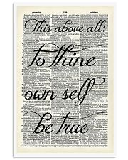 This above all to thine own self be true 11x17 Poster front