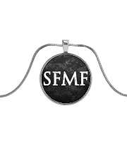 SFMF Necklace Metallic Circle Necklace front