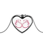 SWAN Lovers Metallic Heart Necklace thumbnail