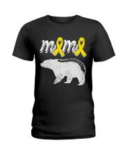 MAMA BEAR SPINA BIFIDA Ladies T-Shirt thumbnail