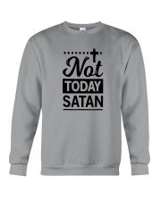 not today satan Crewneck Sweatshirt thumbnail