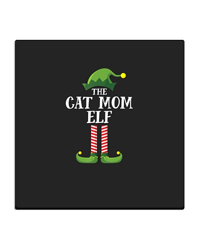 Cat Mom Elf Matching Family Group Christmas