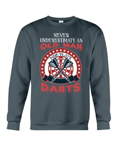 Old Man And Darts Best Gift For Father Dad