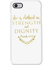 she is clothed in strength and dignity Phone Case thumbnail