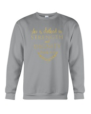 she is clothed in strength and dignity Crewneck Sweatshirt thumbnail