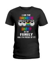 LGBT PRIDE  Rainbow Sheep  Ladies T-Shirt thumbnail