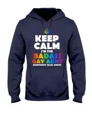 BADASS GAY AUNT Hooded Sweatshirt front
