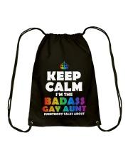BADASS GAY AUNT Drawstring Bag thumbnail