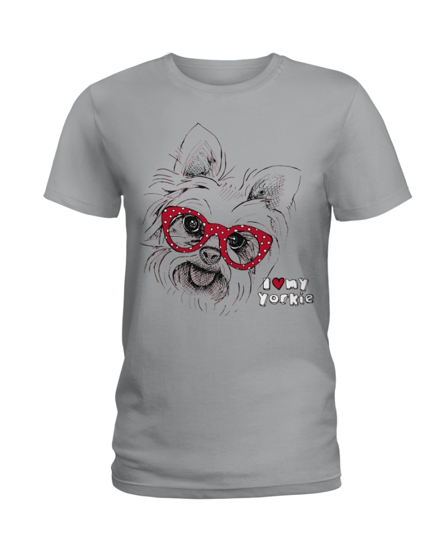 Love Yorkies Ladies T-Shirt