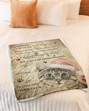 """I Know im just a Cat Small Fleece Blanket - 30"""" x 40"""" aos-coral-fleece-blanket-30x40-lifestyle-front-01"""