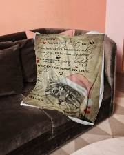 """I Know im just a Cat Small Fleece Blanket - 30"""" x 40"""" aos-coral-fleece-blanket-30x40-lifestyle-front-05"""