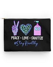 peace love sanitize Accessory Pouch - Large back