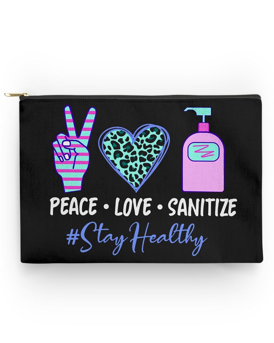 peace love sanitize Accessory Pouch - Large