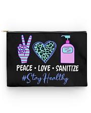 peace love sanitize Accessory Pouch - Large front