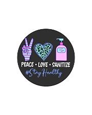 peace love sanitize Circle Magnet thumbnail
